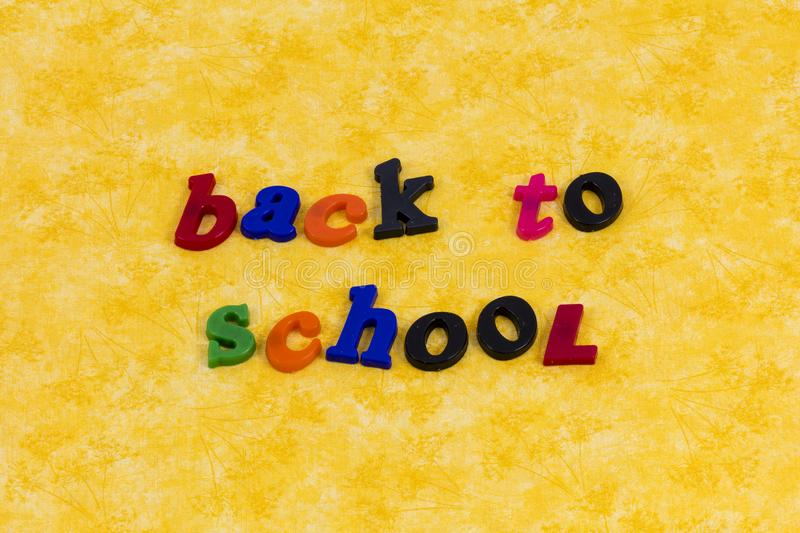 Back to school fun education learning knowledge students royalty free stock photography
