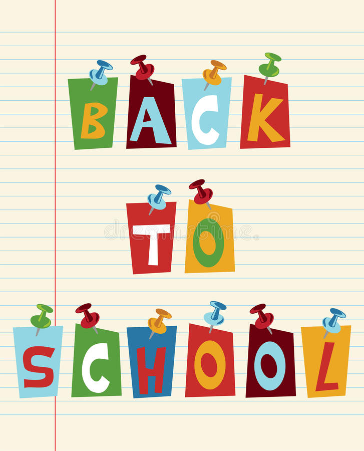 Back To School Fun Text Royalty Free Stock Photo