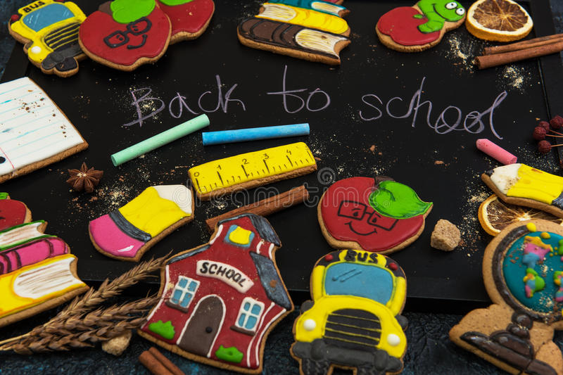 Back to school gingerbreads stock photo