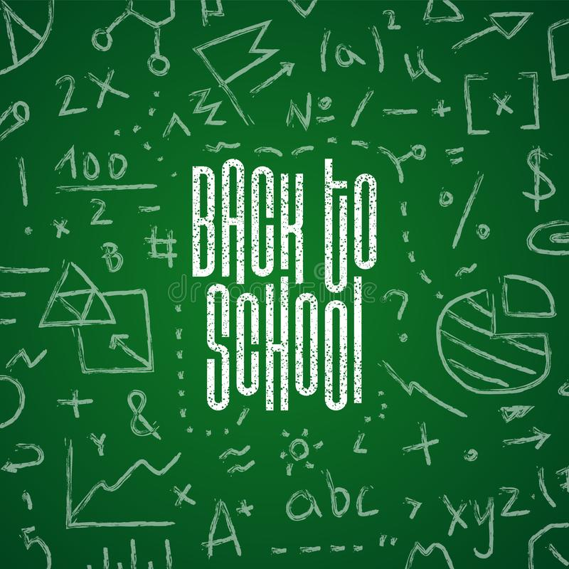 Back to school hand-drawn doodles background.Vector illustration royalty free stock photos