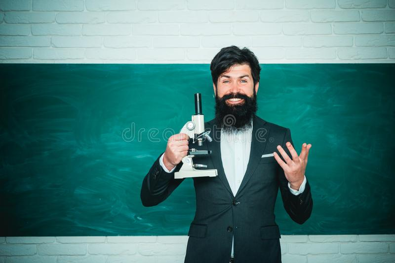 Back to school and happy time. Good teachers enjoy teaching. School concept. Teachers day. stock photo