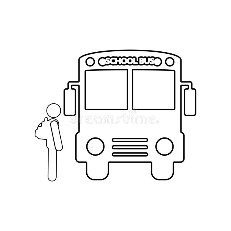 Back to school icon. Element of back to school for mobile concept and web apps icon. Outline, thin line icon for website design. And development, app vector illustration