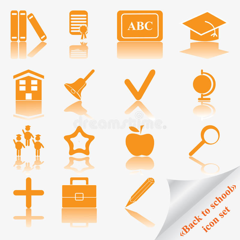 Download Back to school icon set stock vector. Illustration of hand - 10463523