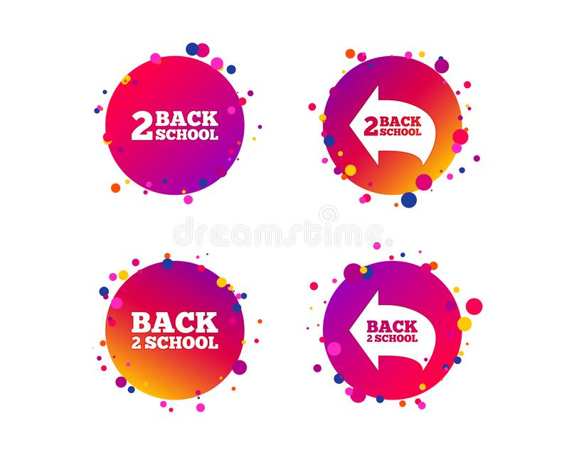 Back to school icons. Studies after the holidays. Vector stock illustration