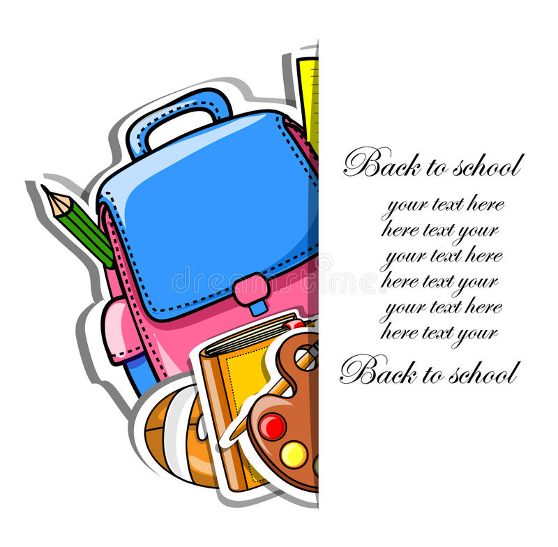Back to school,vector royalty free illustration