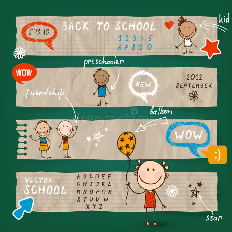 Download Back To School Illustration  Set Stock Vector - Image: 32205355