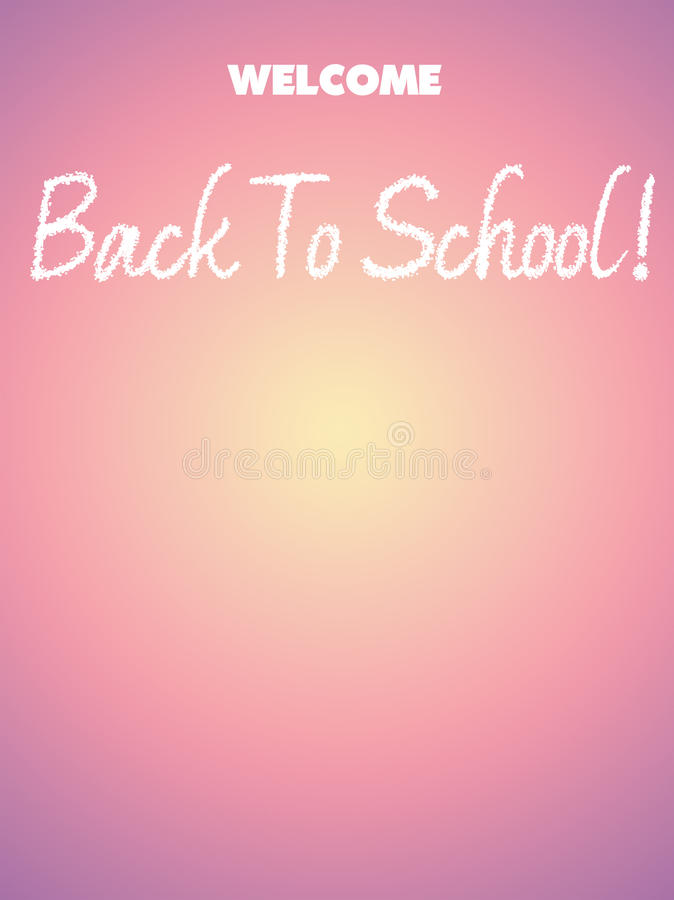 Back to School illustration with text space stock photography
