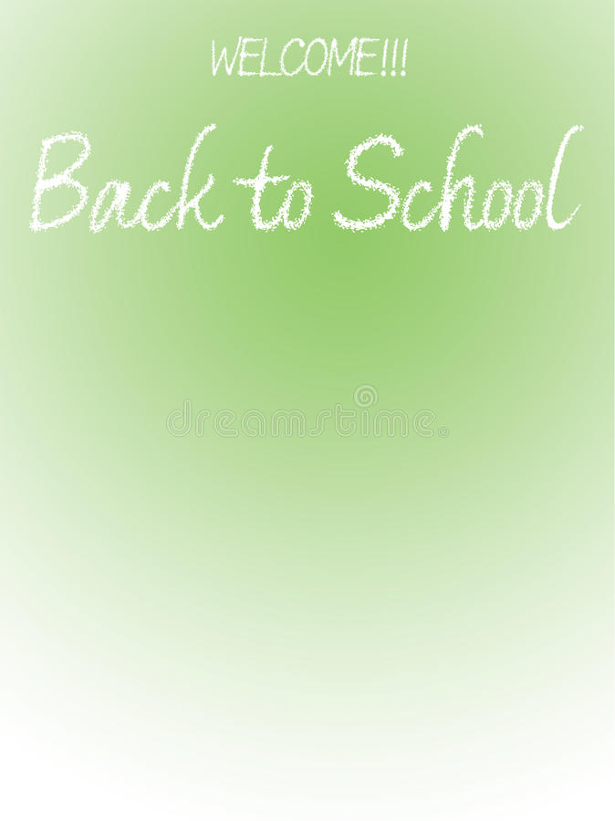 Back to School illustration with text space royalty free stock photos