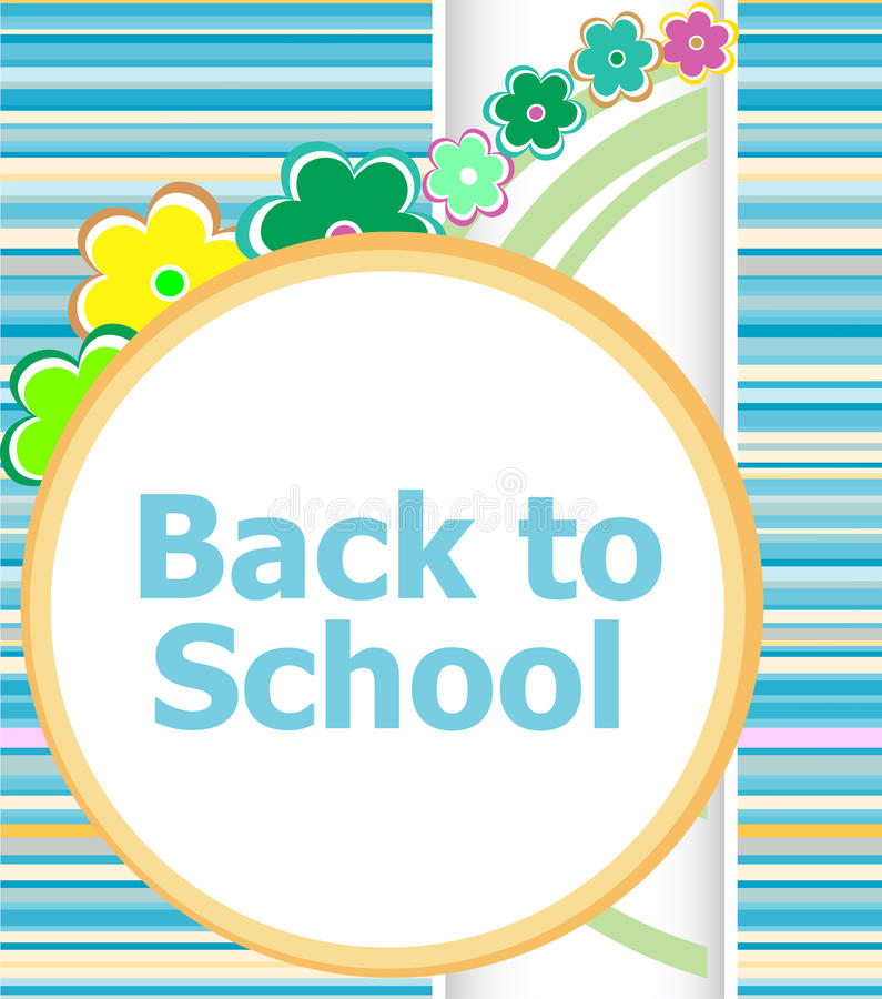 Back to school invitation card with flowers education stock photo download back to school invitation card with flowers education stock photo image of children stopboris Image collections