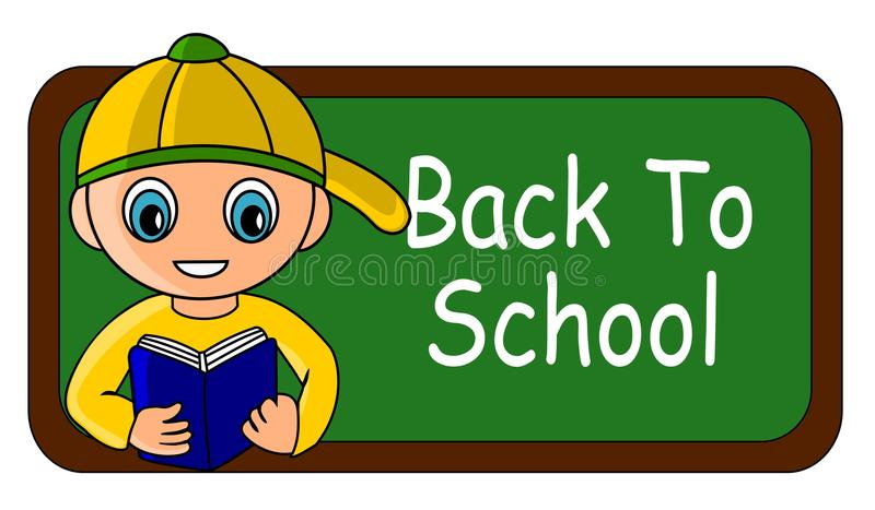 Back to school kid royalty free stock photography