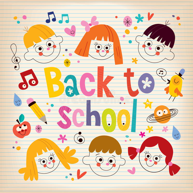 Back to school kids. Design royalty free illustration
