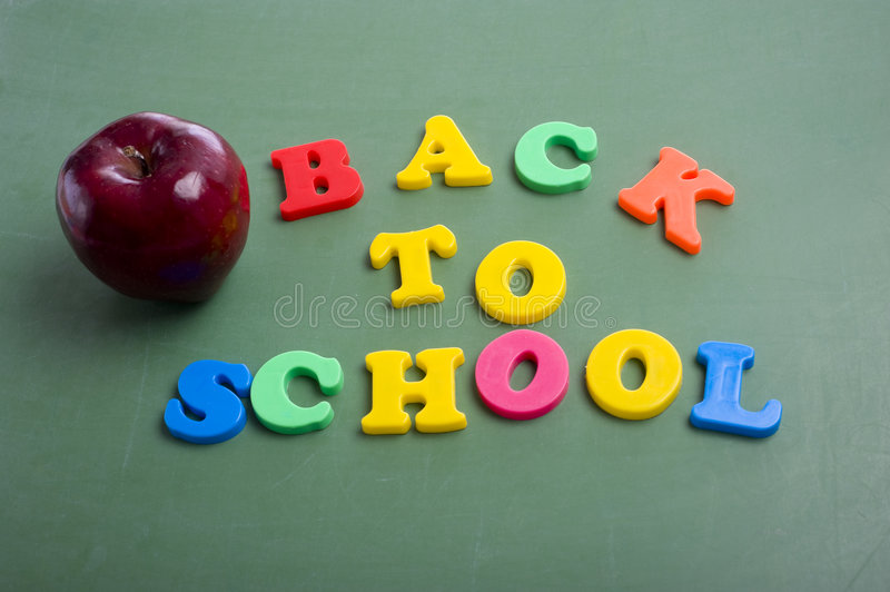 Back to School Letters stock photos
