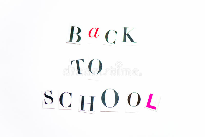 Back to school letters cut out from the magazine stock photo image download back to school letters cut out from the magazine stock photo image of back spiritdancerdesigns Images