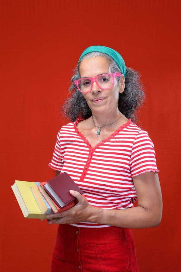Back to school Mature woman 50+ Student Teacher stock photos
