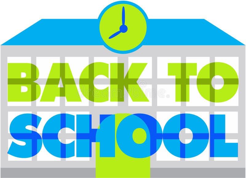 Back to school. Modern back to school logo stock illustration