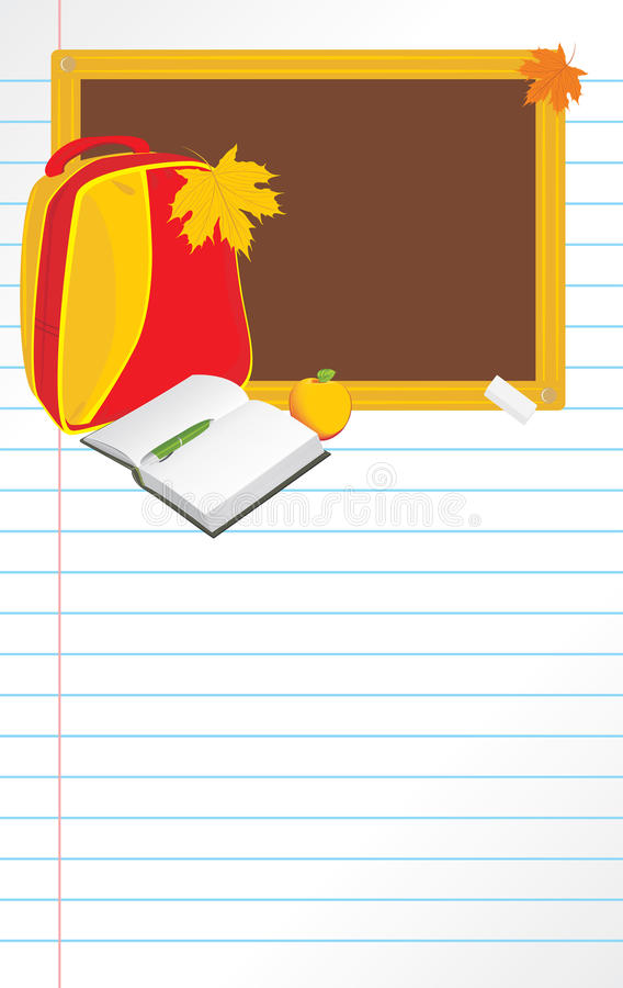 Back to school. Notebook page stock photos