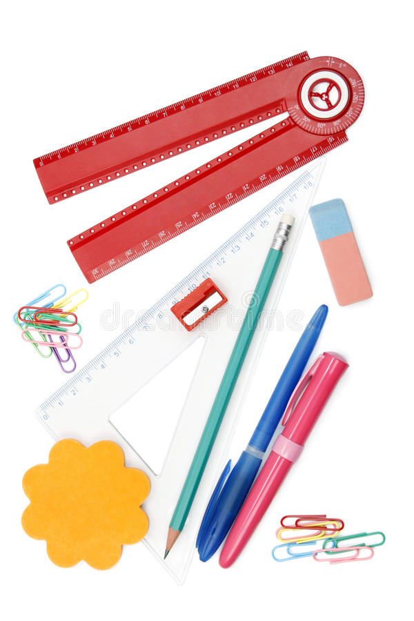 Download Back to school objects stock photo. Image of desk, measure - 20958310