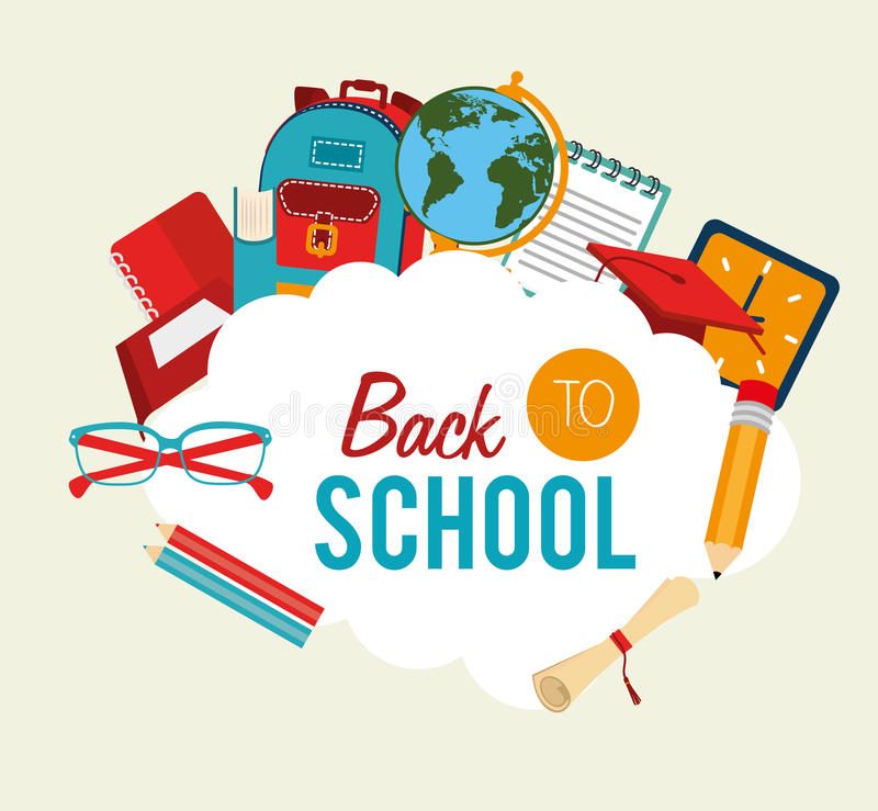 Back to school. Over background vector illustration vector illustration