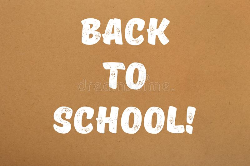 Back to school paint sign over brown paper vector illustration