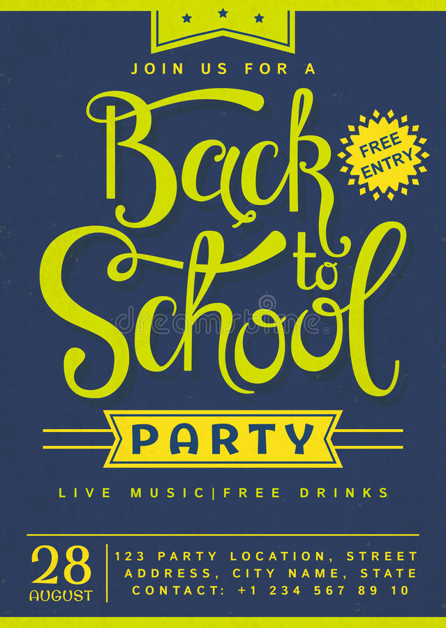 Back To School Party Invitation Stock Vector Illustration Of Back