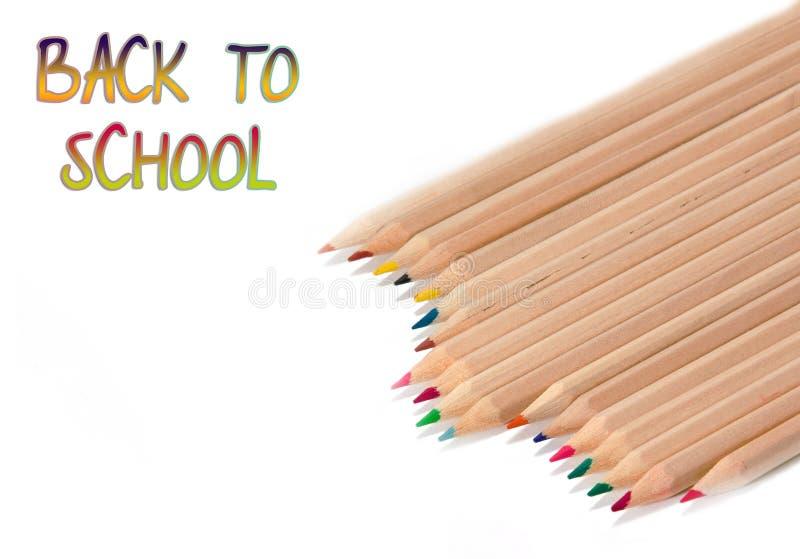 Back to school, pencils stock photos