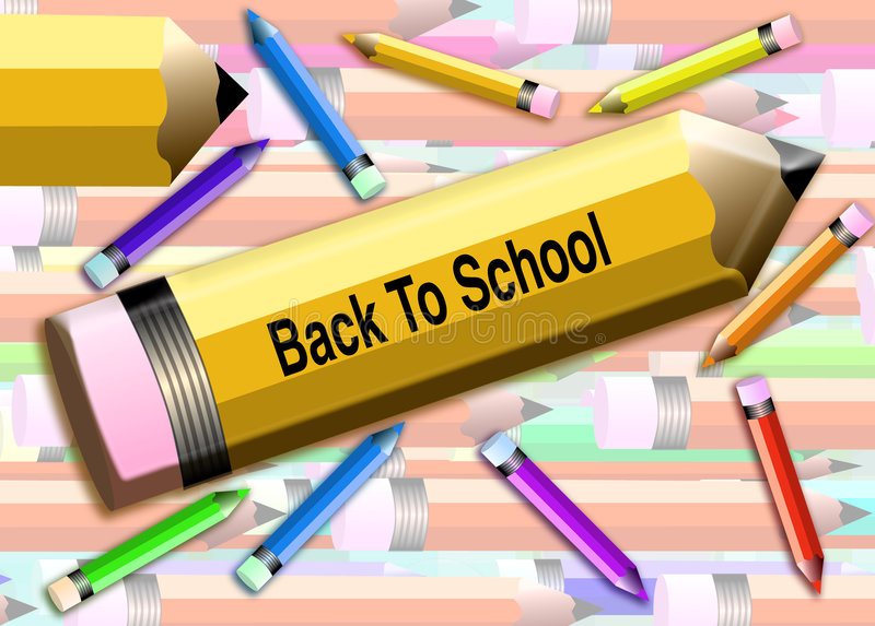 Download Back to school Pencils stock illustration. Image of speed - 5650340