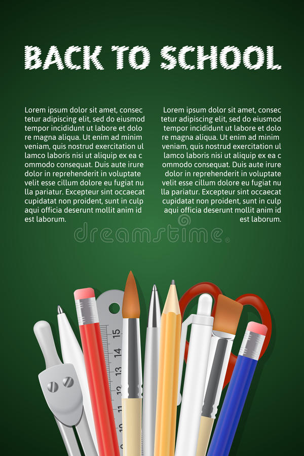 Back to School poster stock illustration