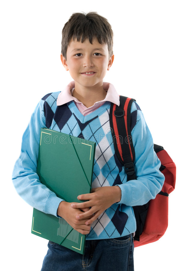 Back to school. Pretty student boy royalty free stock images