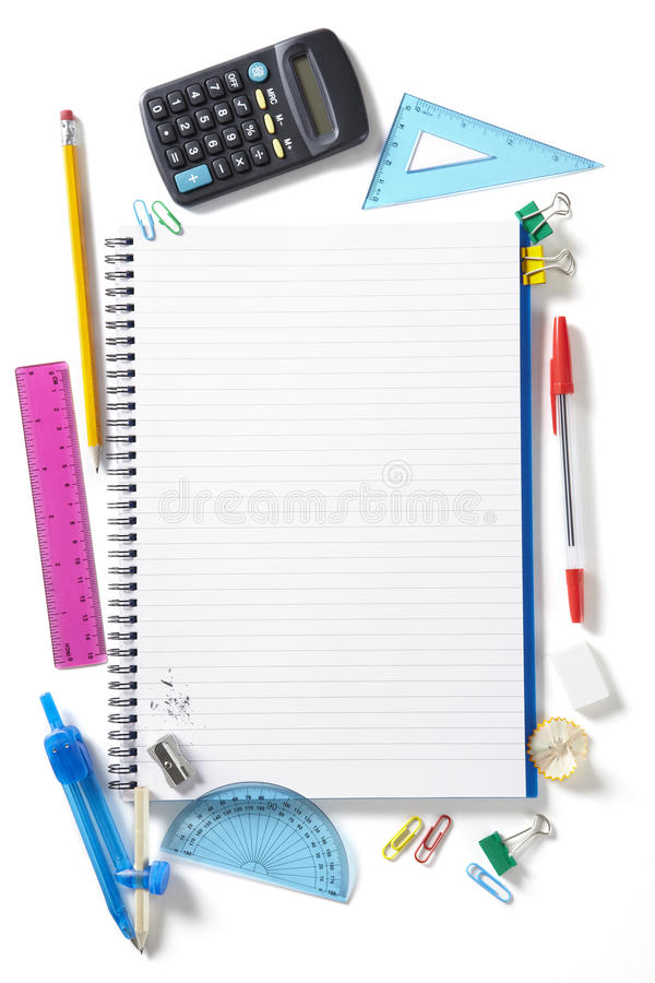 Free Back To School Pupils Note Pad And Stationary Stock Photos - 25970083