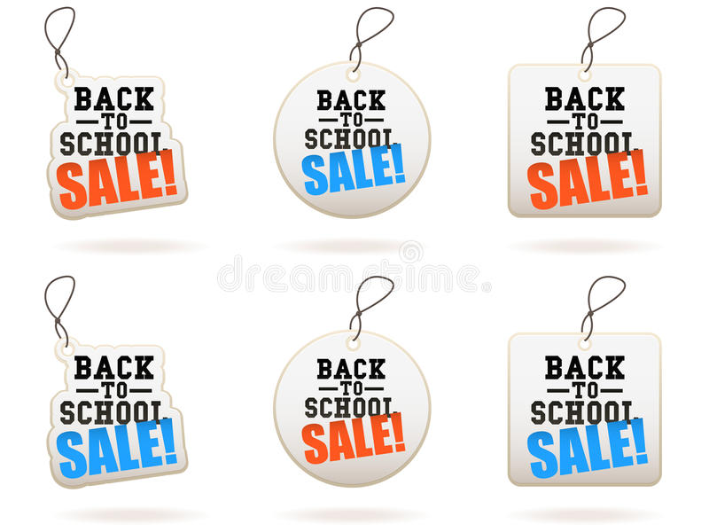 Back To School Sale Tags vector illustration