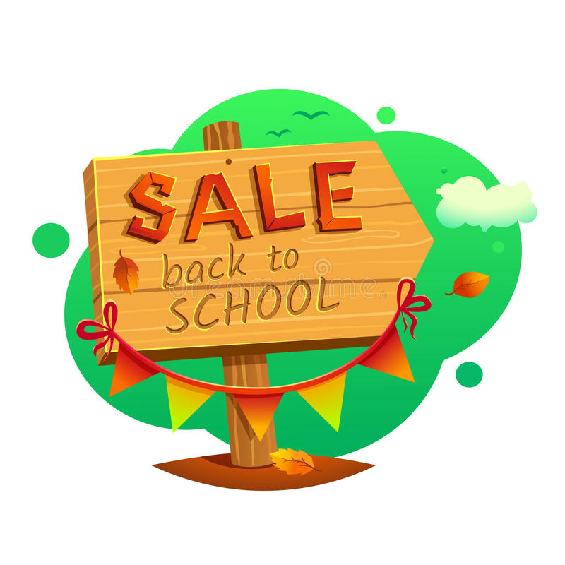Back to school Sale, vector illustration vector illustration