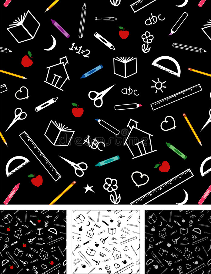 Back to School Seamless Tiles Backgrounds