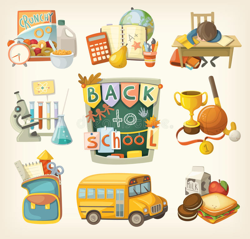 Free Back To School Set Stock Photos - 45825763