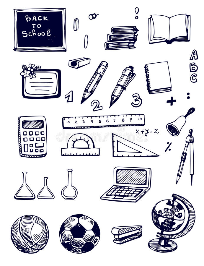 Download Back to School set stock image. Image of ball, supplies - 32285427