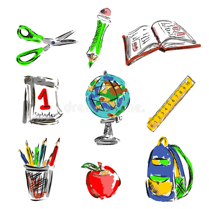 Download Back To School Set Royalty Free Stock Images - Image: 32931709