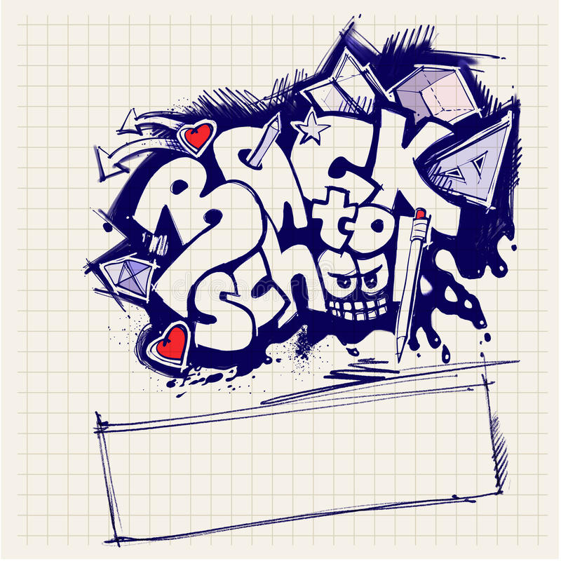 Download Back To School Sign (graffiti Style) Stock Illustration - Image: 20621790
