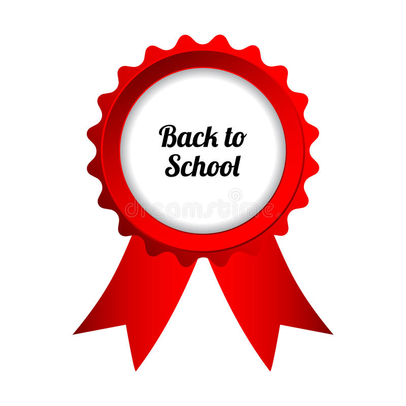 Back to school. Sign, vector eps10 stock illustration