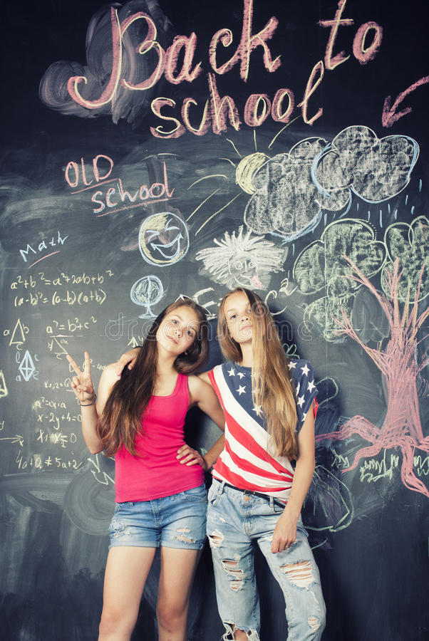 Back to school after summer vacations royalty free stock photo