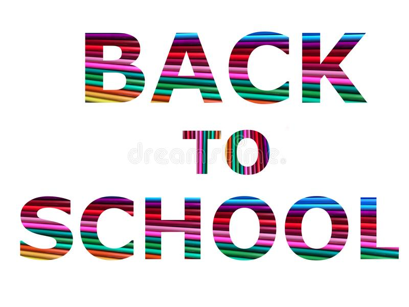 Back to school, super quality abstract business poster royalty free illustration