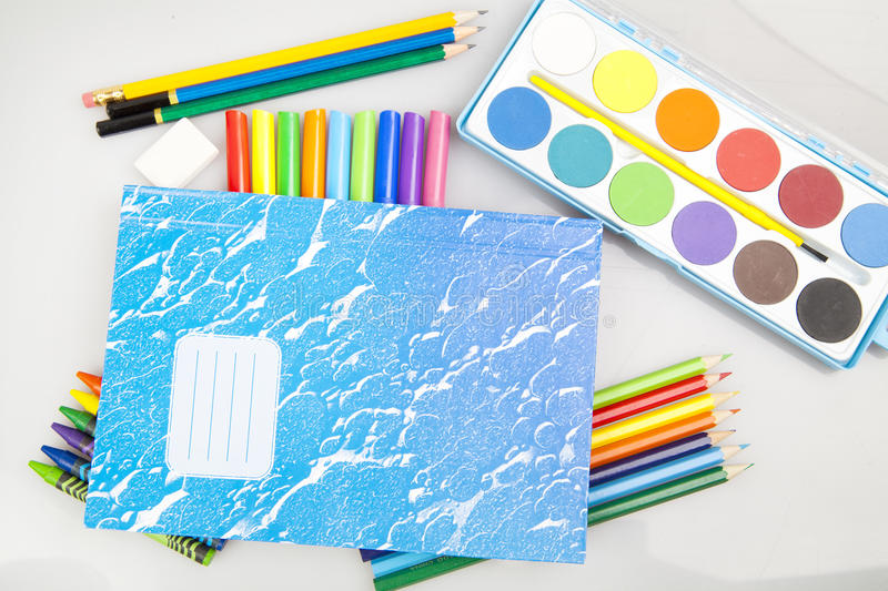 Download Back to school supplies stock image. Image of colour - 34983829