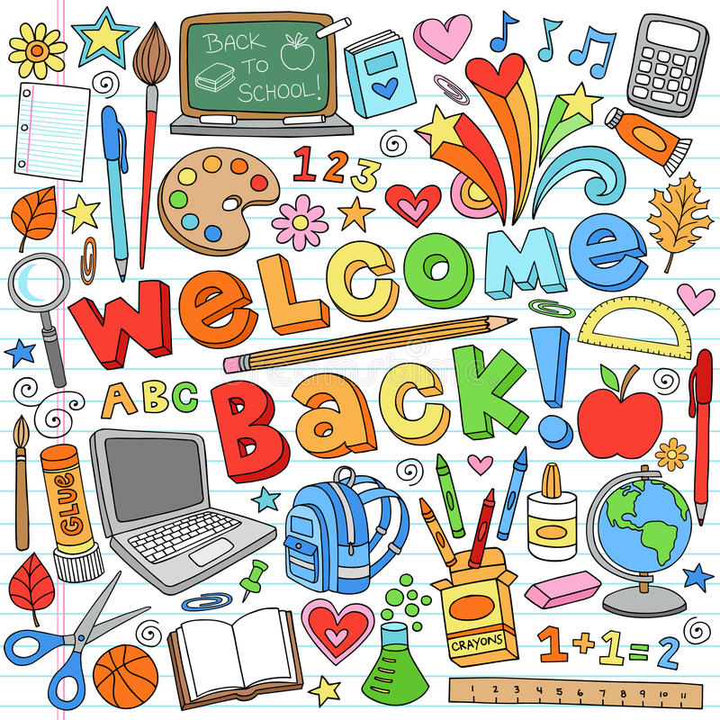 Free Back To School Supplies Vector Design Elements Royalty Free Stock Image - 25965646