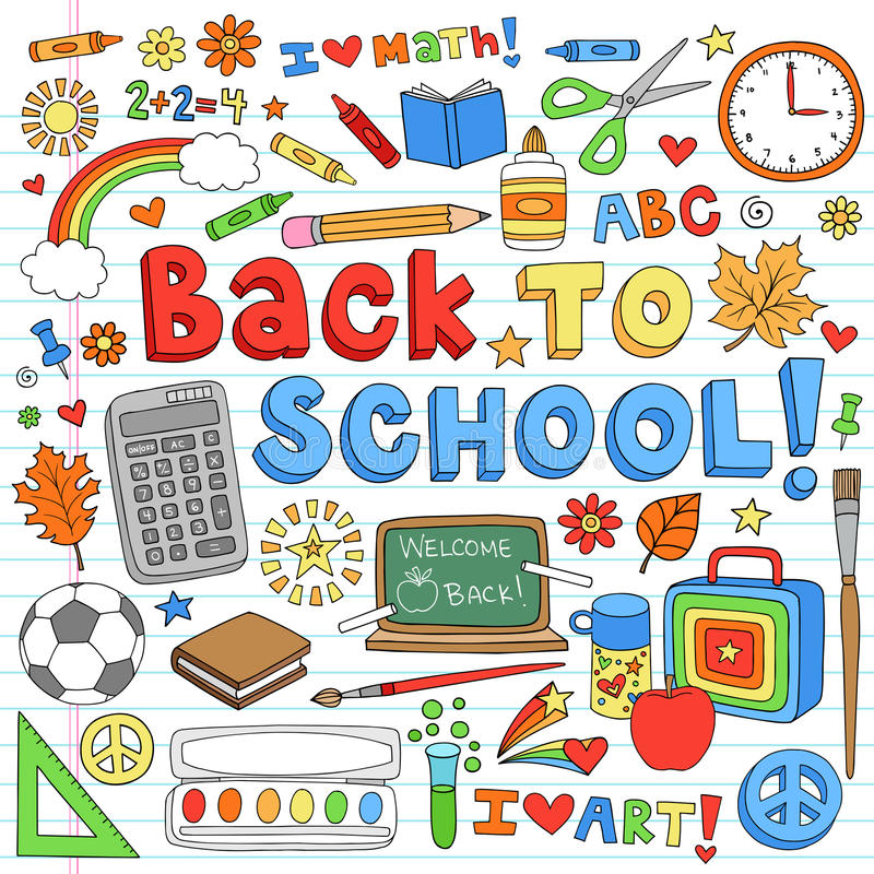 Free Back To School Supplies Vector Design Elements Stock Images - 26005714