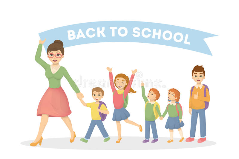 Back to school. royalty free illustration