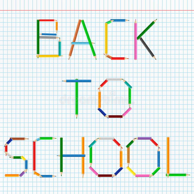 Back to School Text royalty free illustration