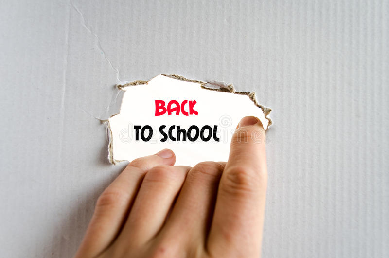 Back to school text concept royalty free stock photos