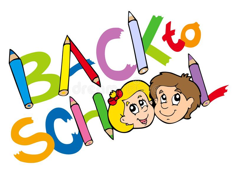 Download Back to school theme 3 stock vector. Image of kids, back - 15306811