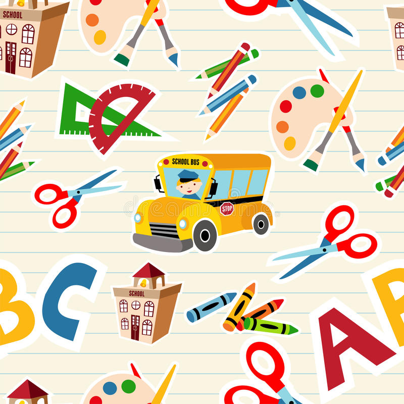 Download Back To School Tools And Supplies Stock Vector - Illustration of elements, books: 25796516