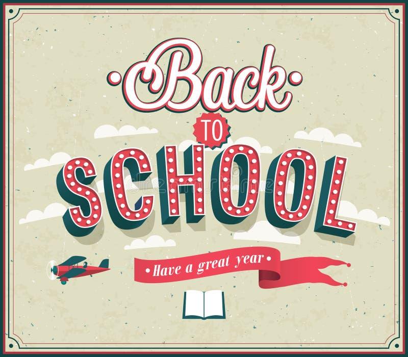 Back to school typographic design. stock illustration
