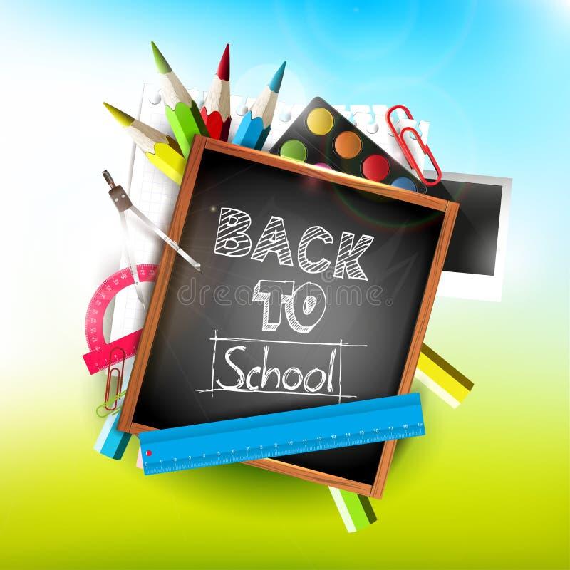 Download Back to school stock vector. Image of illustration, chalkboard - 34865718