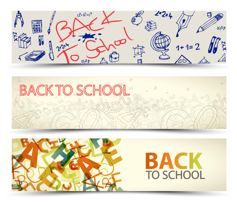 Download Back To School Vector Banners Stock Vector - Illustration: 25853835